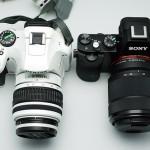 SONY α7 比較 SONY RX100 / PENTAX K-x / Panasonic GF3