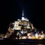フランス世界遺産 モンサンミッシェルの夜景